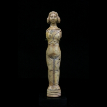A bone doll in the form of a naked female. Roman Period