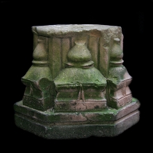 An Indian sandstone capital depicting Temples