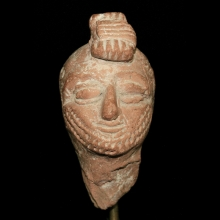 A Parthian clay head of a soldier