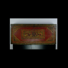 A 19th Century hand painted Tibetan wedding chest