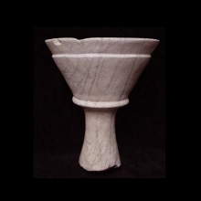 A beautiful early Bactrian veined marble chalice.