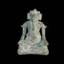A Khmer bronze statue of the God Ganesh