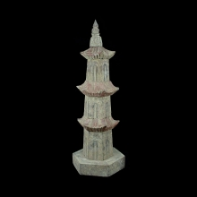 A Liao Dynasty votive wooden pagoda.