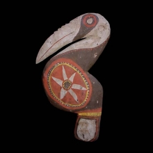 An attractive Abelam hornbill figure