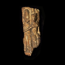 An Indus Valley Ivory carving of an Erotic couple
