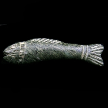 Sumerian green diorite amulet in the form of a fish
