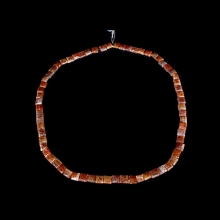 Chinese carnelian bead necklace