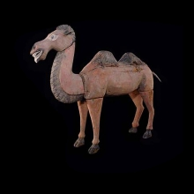 Chinese wooden figure of a dromedarius camel