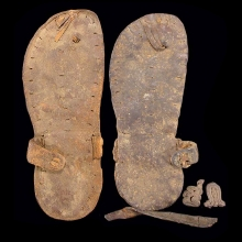 Coptic leather sandals, 4th-6th century AD