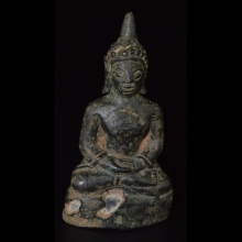 Pala bronze seated Buddha