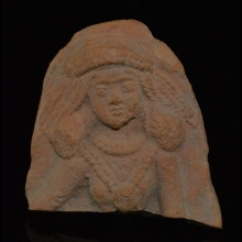 Chandraketugarh clay fragment depicting a Yakshi