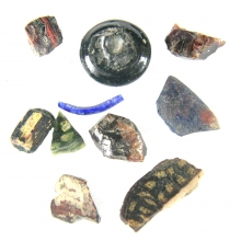 A group of 12 Egyptian glass fragments, Study Group , Ex S. Kovar