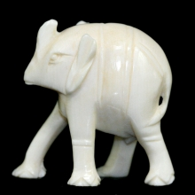 An ivory carving of a rhinoceros
