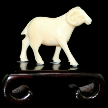 An ivory carving of a ram