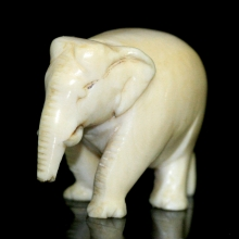 An ivory carving of an elephant