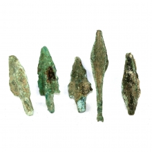 A group of five Hellenistic bronze arrow heads