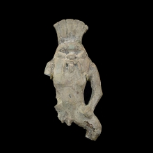 Green glazed faience figure of the dwarf God Bes