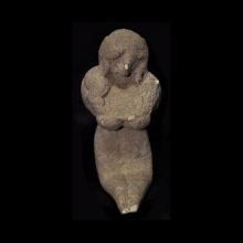 Indus Valley clay figurine of goddess with earth accretions evident