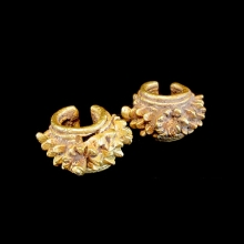 Pair of Ban Chiang gold earrings
