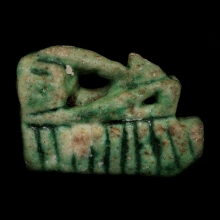An Egyptian faience eye of Horus amulet, 3rd Intermediate Period
