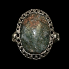 Persian silver ring with jasper bezel