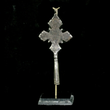 Ethiopian iron cross engraved with angels