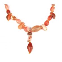 Egyptian carnelian bead necklace
