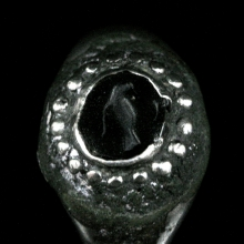 Sassanian silver ring with onyx bezel.