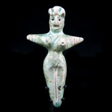 Indus Valley green faience amulet of a mother goddess