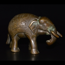 North Indian bronze elephant.