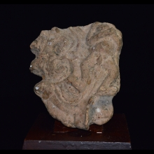 Majapahit clay fragment depicting a naked male