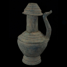 Khmer bronze Vessel with Dragon spout