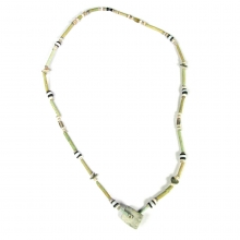 An Egyptian faïence and glass bead necklace.