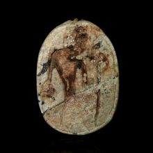 A steatite scarab, Ramesside Period Egypt