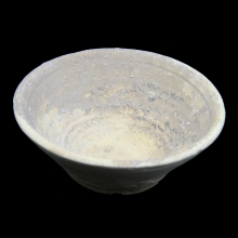 A clay magic bowl the inner surface decorated with Aramaic script, Levant