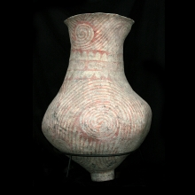 Extremely large and rare Ban Chiang clay vessel with painted decoration.