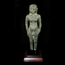 A fine Jain bronze statue of a Jina in Digambaras tradition