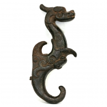 Ming Dynasty iron handle in Dragon form