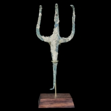 Roman bronze Gladiators trident