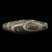 A Bactrian numilithic stone barrel bead
