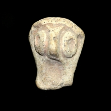 A Canaanite clay fragmentary head of a goddess