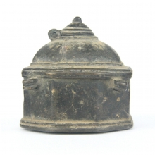 An Indian bronze inkwell