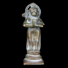 An Indian bronze figure of Hanuman