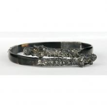 A fine Perankan turtle shell and gilded silver bracelet