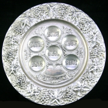 A late 19th  Century Silver plated Jewish