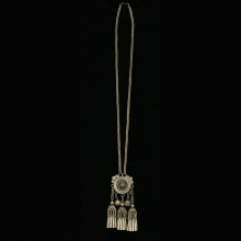 A Red Dao silver pendant with good luck amulets