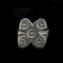 Byzantine silver ring with five protective eyes