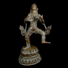 A Nepalese brass figure of God of Rain