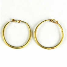 A pair of Roman gold hoop earrings