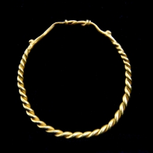 A Roman twisted gold child's bracelet.
